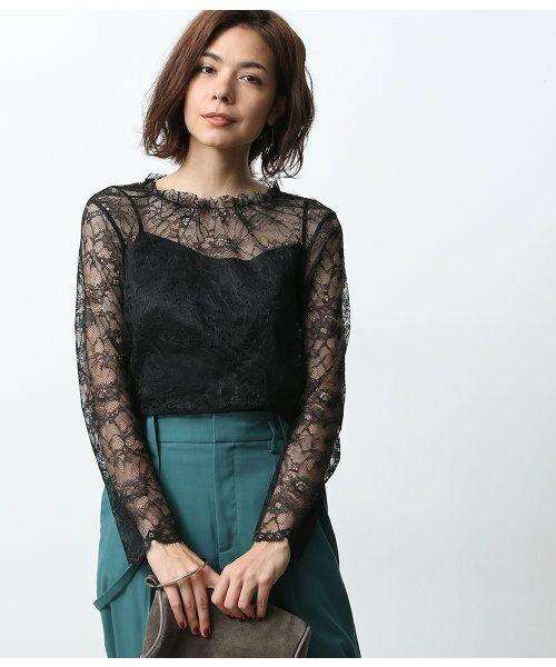 ROPE' / ロペ シャツ・ブラウス   バックオープンレースブラウス   詳細14