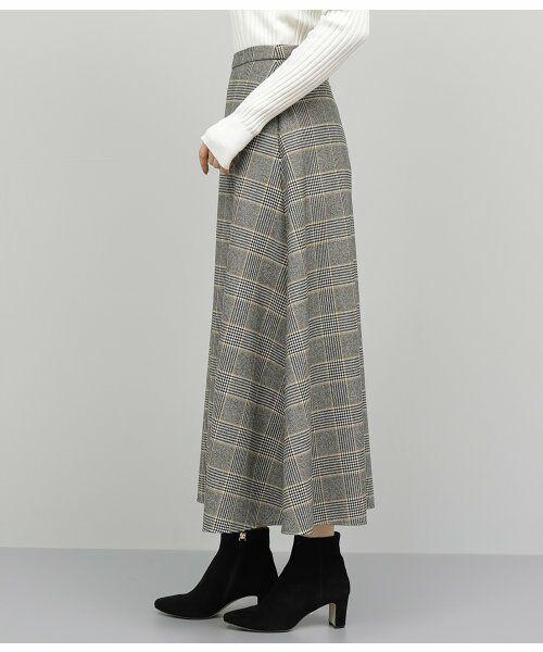 ROPE' / ロペ スカート   チェックマキシフレアスカート   詳細3
