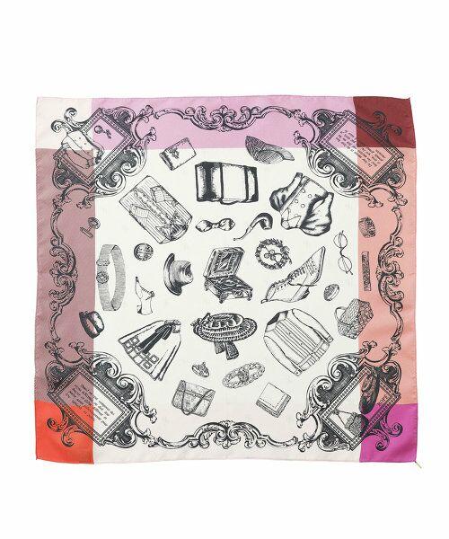 ROPE' / ロペ バンダナ・スカーフ | リバイバル柄スカーフ(S)(ピンク(63))