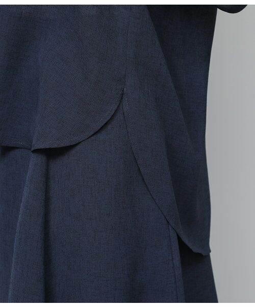 ROPE' / ロペ サロペット・オールインワン | 【WEB限定】【SS/S/Lサイズあり】麻調スキッパーブラウス×フレアスカートセットアップ | 詳細12