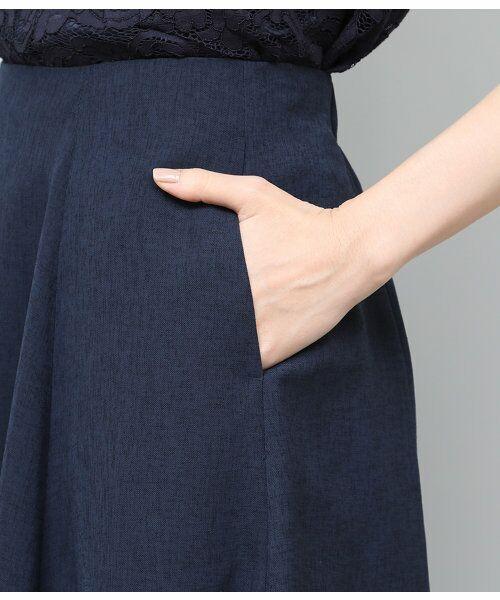 ROPE' / ロペ サロペット・オールインワン | 【WEB限定】【SS/S/Lサイズあり】麻調スキッパーブラウス×フレアスカートセットアップ | 詳細17