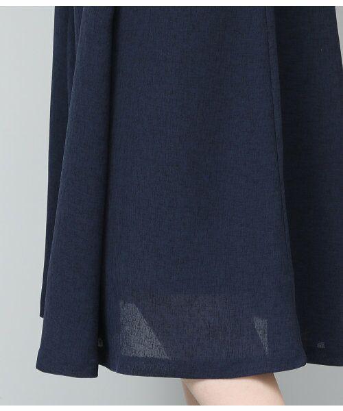 ROPE' / ロペ サロペット・オールインワン | 【WEB限定】【SS/S/Lサイズあり】麻調スキッパーブラウス×フレアスカートセットアップ | 詳細18