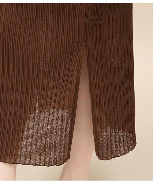 ROPE' / ロペ スカート | シアープリーツタイトスカート | 詳細6