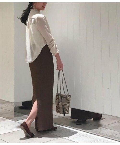ROPE' / ロペ シャツ・ブラウス   スタンドカラーシアーブラウス   詳細14