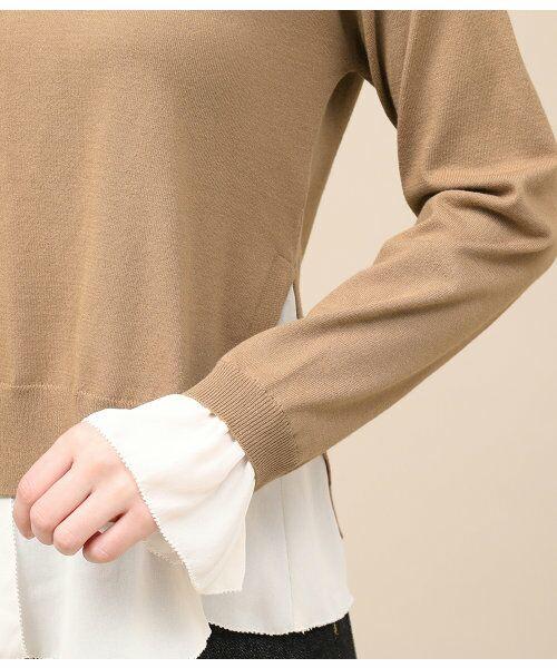 ROPE' / ロペ ニット・セーター | シフォンレイヤードニットプルオーバー | 詳細7