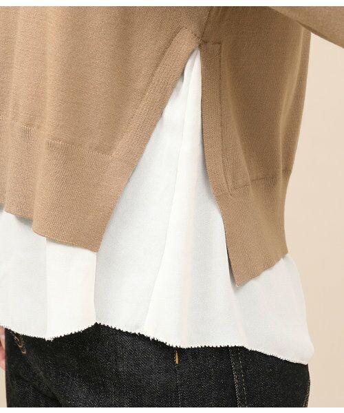 ROPE' / ロペ ニット・セーター | シフォンレイヤードニットプルオーバー | 詳細8