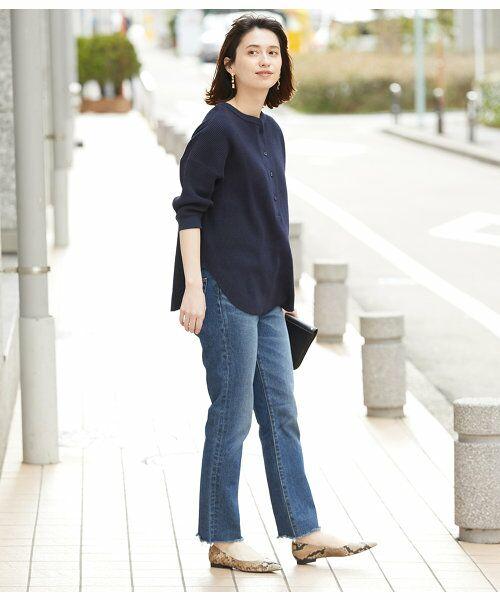 ROPE' / ロペ カットソー | 【予約】ワッフル6分袖プルオーバー | 詳細2