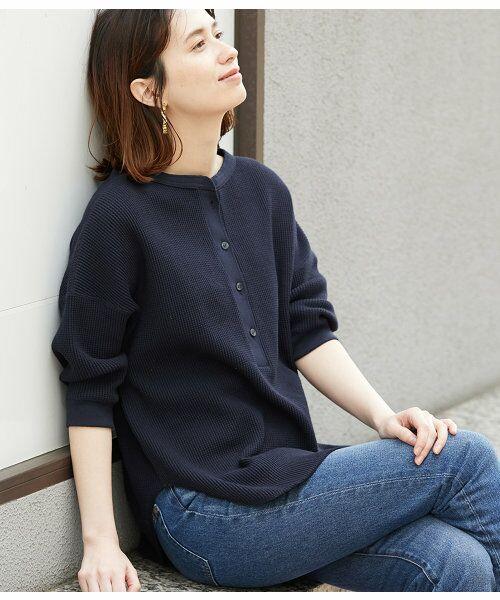 ROPE' / ロペ カットソー | 【予約】ワッフル6分袖プルオーバー | 詳細9