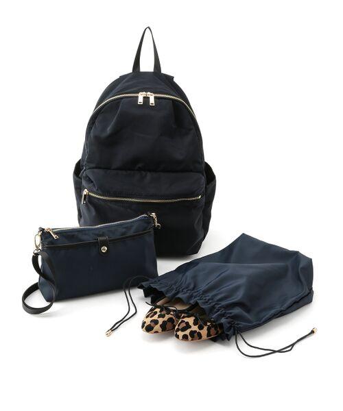 ROPE' / ロペ リュック・バックパック | 【19AW】デイバッグ お財布バッグ&巾着ポーチの3点セット(ブラック(01))