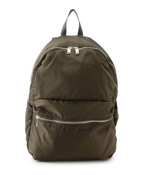 ROPE' / ロペ リュック・バックパック | デイパック&お財布バッグ&巾着ポーチの3点セット(カーキ(36))