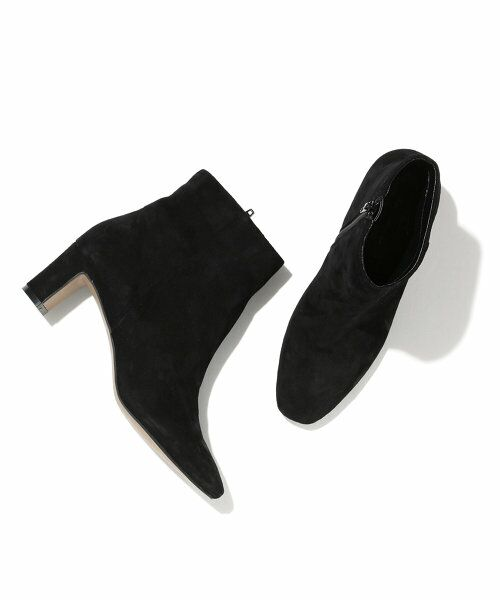ROPE' / ロペ ブーツ(ショート丈)   スエードショートブーツ(ブラック(01))