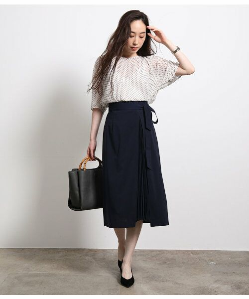 ROPE' / ロペ スカート | ポリキュプラメランジプリーツスカート | 詳細10