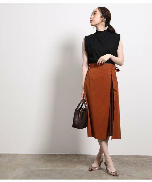 ROPE' / ロペ スカート | ポリキュプラメランジプリーツスカート | 詳細11