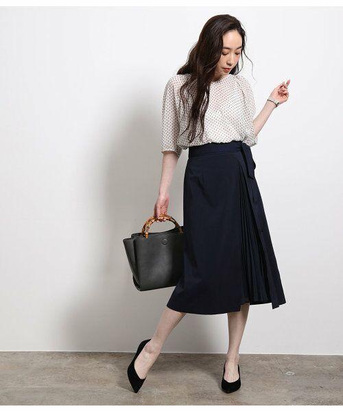 ROPE' / ロペ スカート | ポリキュプラメランジプリーツスカート | 詳細2