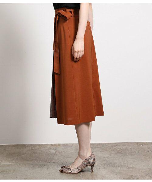 ROPE' / ロペ スカート | ポリキュプラメランジプリーツスカート | 詳細3