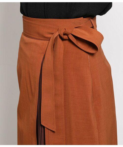ROPE' / ロペ スカート | ポリキュプラメランジプリーツスカート | 詳細8