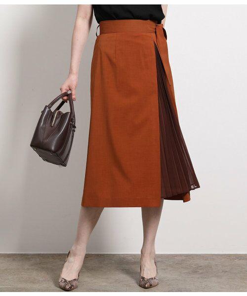 ROPE' / ロペ スカート | ポリキュプラメランジプリーツスカート(キャメル系(26))