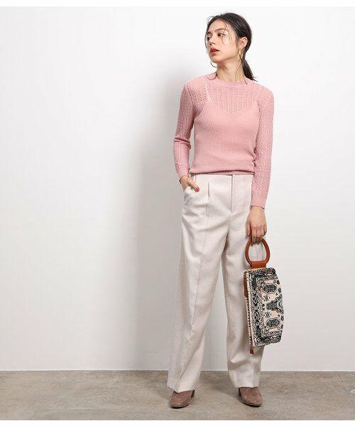 ROPE' / ロペ ニット・セーター | 透かし編みリブニット | 詳細3