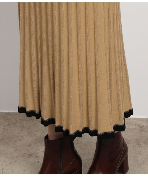 ROPE' / ロペ スカート | 【セットアップ対応】ワイドリブマーメイドニットスカート | 詳細10