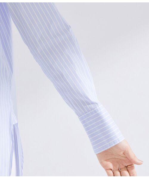 ROPE' / ロペ シャツ・ブラウス | 【ドラマ着用】【洗える】【21SS】ハイパワーブロードボザムチュニックノーカラーシャツ | 詳細10