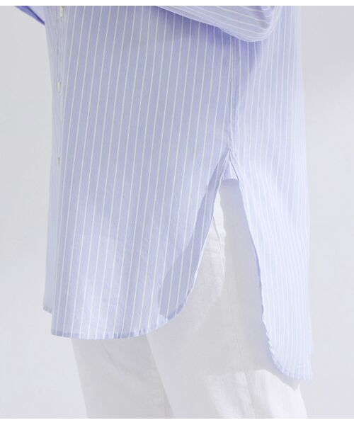 ROPE' / ロペ シャツ・ブラウス | 【ドラマ着用】【洗える】【21SS】ハイパワーブロードボザムチュニックノーカラーシャツ | 詳細11
