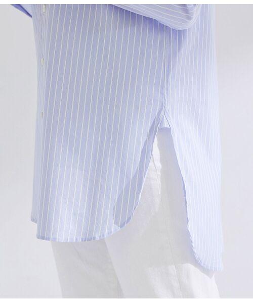 ROPE' / ロペ シャツ・ブラウス | 【ドラマ着用】【洗える】【21SS】ハイパワーブロードボザムチュニックノーカラーシャツ | 詳細28