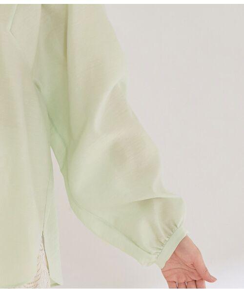 ROPE' / ロペ シャツ・ブラウス | 【ドラマ着用】【洗える】【21SS】袖ボリュームスリーブシアーブラウス | 詳細8