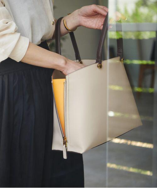 ROPE' / ロペ ハンドバッグ | 【新色追加】【E'POR】Y bag Medium (サイドジップトートバッグ)(ライトグレー(08))