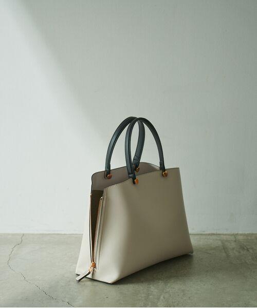 ROPE' / ロペ ハンドバッグ | 【新色追加】【E'POR】Y bag Medium (サイドジップトートバッグ)(ホワイト系(12))