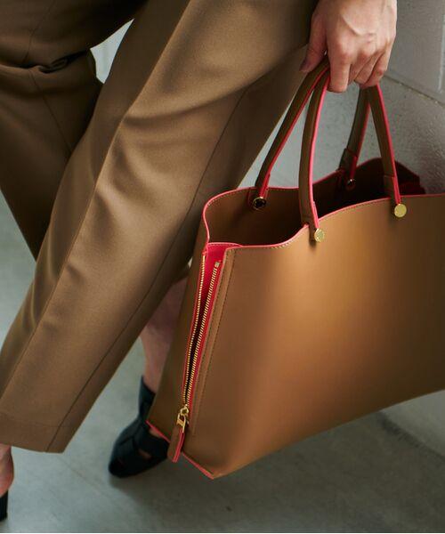 ROPE' / ロペ ハンドバッグ | 【新色追加】【E'POR】Y bag Medium (サイドジップトートバッグ)(キャメル(25))