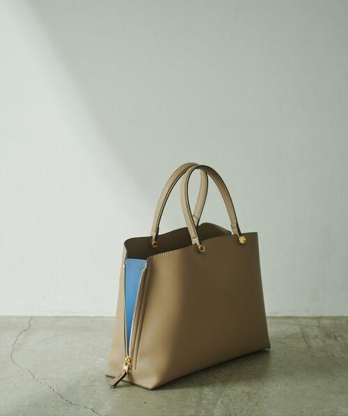 ROPE' / ロペ ハンドバッグ | 【新色追加】【E'POR】Y bag Medium (サイドジップトートバッグ)(ベージュ(27))