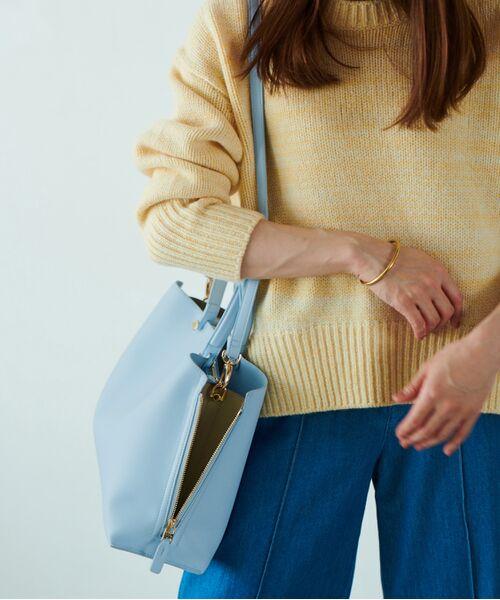 ROPE' / ロペ ハンドバッグ | 【新色追加】【E'POR】Y bag Medium (サイドジップトートバッグ)(ブルー系(45))