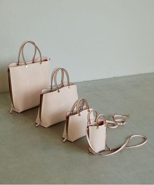 ROPE' / ロペ ハンドバッグ | 【新色追加】【E'POR】Y bag Medium (サイドジップトートバッグ)(ピンク(63))