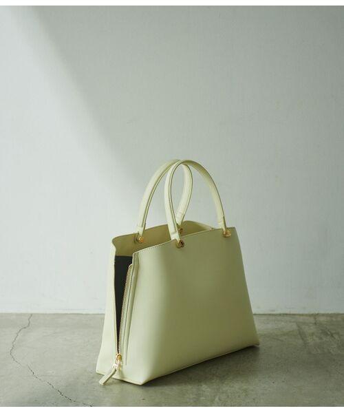ROPE' / ロペ ハンドバッグ | 【新色追加】【E'POR】Y bag Medium (サイドジップトートバッグ)(イエロー(80))