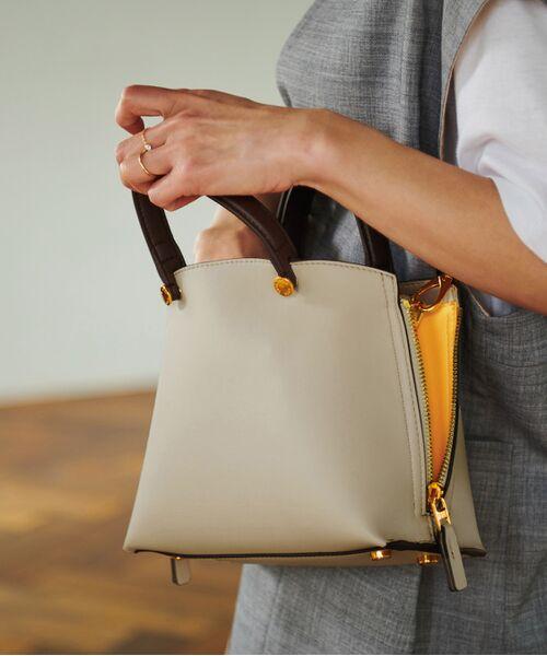 ROPE' / ロペ ハンドバッグ | 【新色追加】【E'POR】Y bag Mini(サイドジップミニショルダーバッグ)(ライトグレー(08))