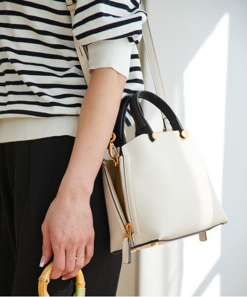 ROPE' / ロペ ハンドバッグ | 【E'POR】【一部WEB限定】Y bag Mini(サイドジップミニショルダーバッグ)(ホワイト系(12))