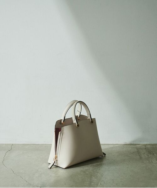 ROPE' / ロペ ハンドバッグ | 【E'POR】【一部WEB限定】Y bag Mini(サイドジップミニショルダーバッグ)(オフホワイト(15))