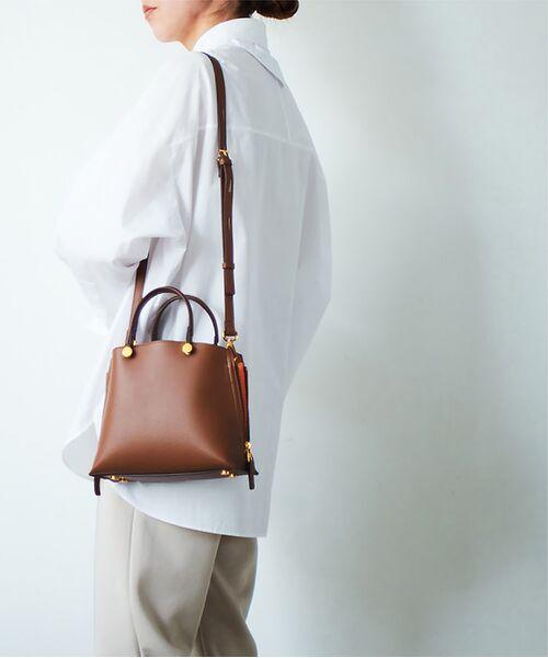 ROPE' / ロペ ハンドバッグ | 【E'POR】【一部WEB限定】Y bag Mini(サイドジップミニショルダーバッグ)(ブラウン(22))