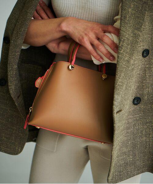 ROPE' / ロペ ハンドバッグ | 【新色追加】【E'POR】Y bag Mini(サイドジップミニショルダーバッグ)(キャメル(25))