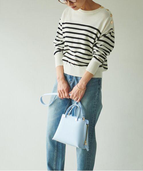 ROPE' / ロペ ハンドバッグ | 【E'POR】【一部WEB限定】Y bag Mini(サイドジップミニショルダーバッグ)(ブルー系(45))