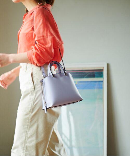ROPE' / ロペ ハンドバッグ | 【新色追加】【E'POR】Y bag Mini(サイドジップミニショルダーバッグ)(ラベンダー(52))