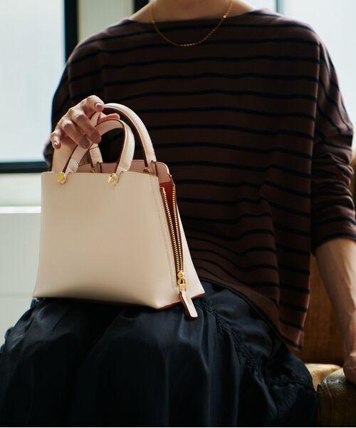 ROPE' / ロペ ハンドバッグ | 【新色追加】【E'POR】Y bag Mini(サイドジップミニショルダーバッグ)(ピンク(63))