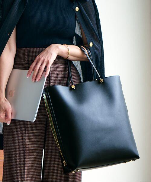 ROPE' / ロペ トートバッグ | 【E'POR】【一部WEB限定】【A4対応】Y bag Large(サイドジップ縦型トートバッグ)(ブラック(01))