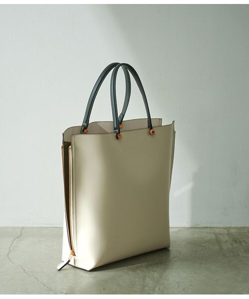 ROPE' / ロペ トートバッグ | 【E'POR】【一部WEB限定】【A4対応】Y bag Large(サイドジップ縦型トートバッグ)(ホワイト系(12))
