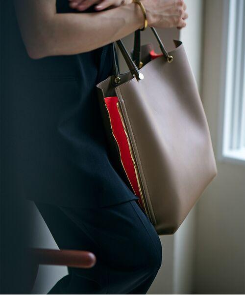 ROPE' / ロペ トートバッグ | 【E'POR】【一部WEB限定】【A4対応】Y bag Large(サイドジップ縦型トートバッグ)(ダークブラウン(20))
