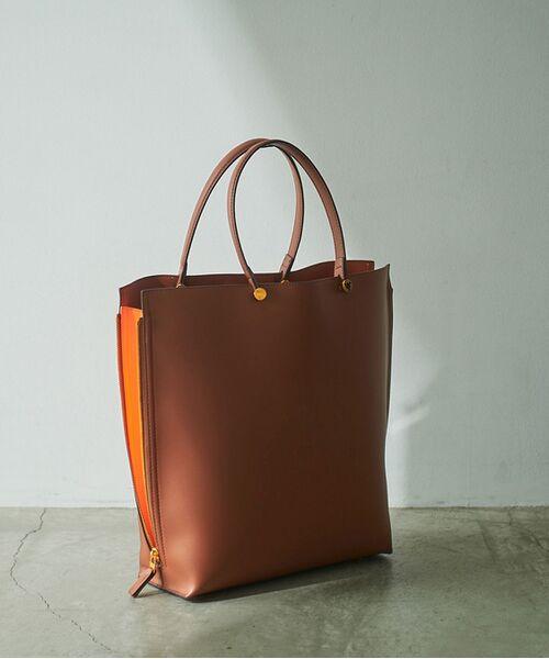 ROPE' / ロペ トートバッグ | 【E'POR】【一部WEB限定】【A4対応】Y bag Large(サイドジップ縦型トートバッグ)(ブラウン(22))