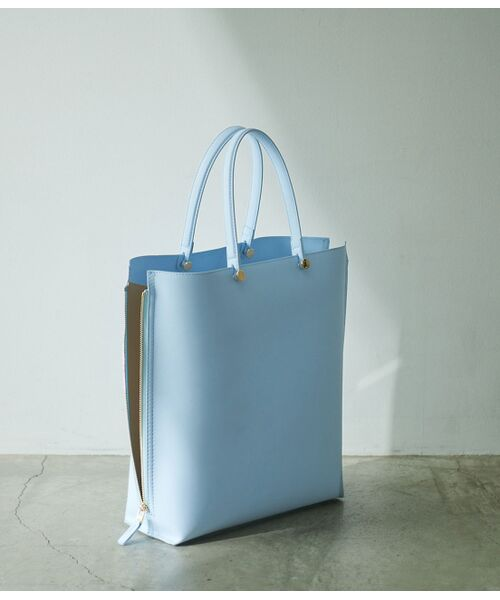ROPE' / ロペ トートバッグ | 【E'POR】【一部WEB限定】【A4対応】Y bag Large(サイドジップ縦型トートバッグ)(ブルー系(45))