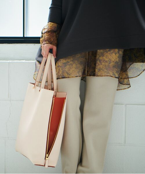 ROPE' / ロペ トートバッグ | 【新色追加】【E'POR】【A4対応】Y bag Large(サイドジップ縦型トートバッグ)(ピンク(63))