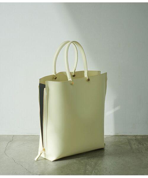 ROPE' / ロペ トートバッグ | 【E'POR】【一部WEB限定】【A4対応】Y bag Large(サイドジップ縦型トートバッグ)(イエロー(80))
