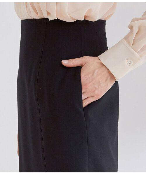 ROPE' / ロペ スカート | 【洗える】【オフィス/お仕事】ステッチ入りタイトスカート(セットアップ対応) | 詳細7